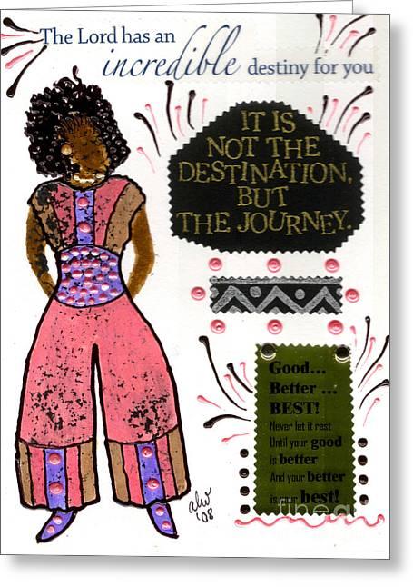 Survivor Art Greeting Cards - Good Better Best Greeting Card by Angela L Walker
