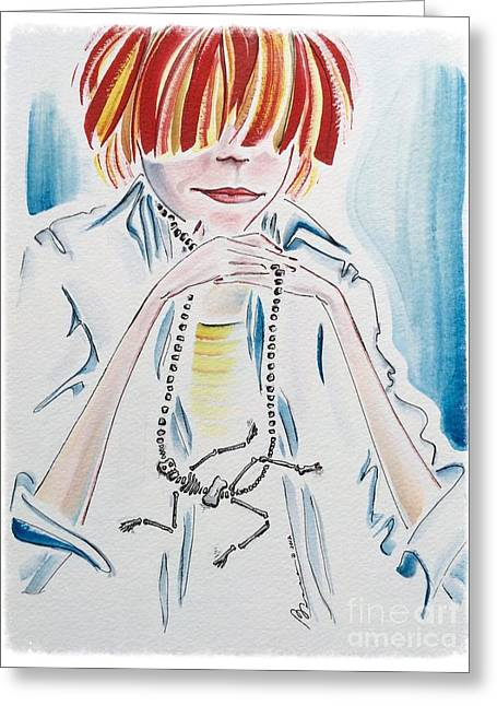 Lost In Thought Paintings Greeting Cards - Good Bones Greeting Card by Barbara Chase