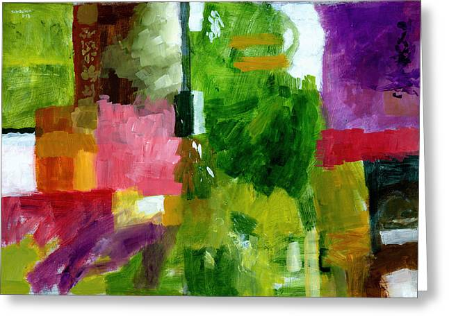 Abstract Expressionist Paintings Greeting Cards - Good Company Greeting Card by Douglas Simonson