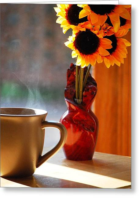 Interior Still Life Greeting Cards - Good Day Brewing Greeting Card by Peter  McIntosh
