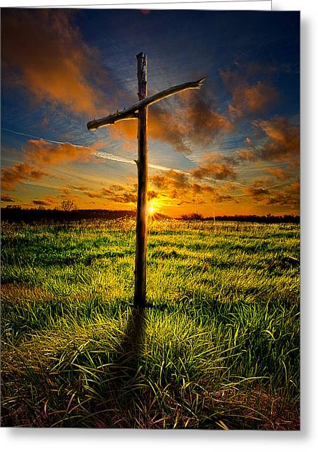Myhorizonart Greeting Cards - Good Friday Greeting Card by Phil Koch