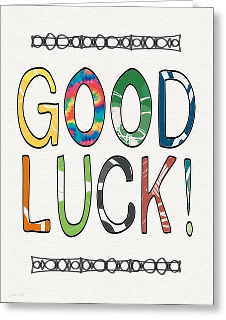 Good Luck Card- Art By Linda Woods Greeting Card by Linda Woods