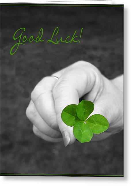 Good Luck Photographs Greeting Cards - Good Luck Greeting Card by Kristin Elmquist