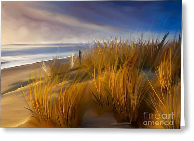 Good Morning Beach Day Greeting Card by Anthony Fishburne