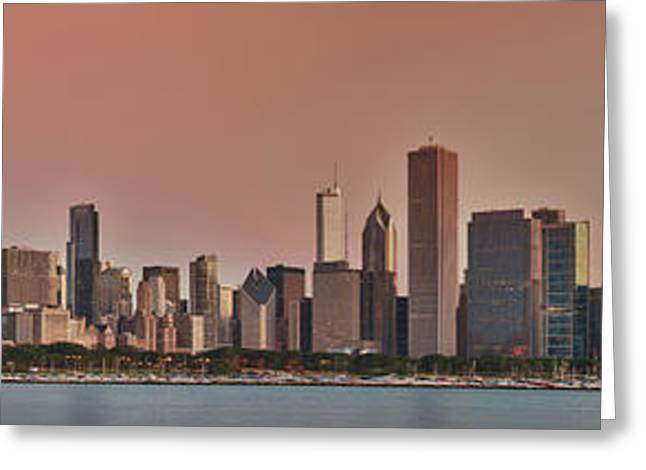Good Morning Chicago Panorama Greeting Card by Sebastian Musial