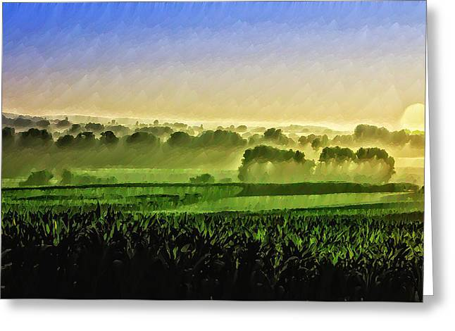 Amish Greeting Cards - Good Morning Good Morning Greeting Card by Bill Cannon