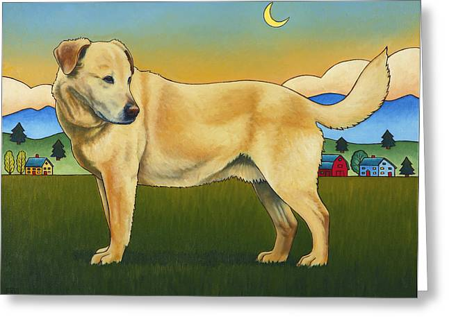 Golden Lab Greeting Cards - Good Morning Hancho Greeting Card by Stacey Neumiller