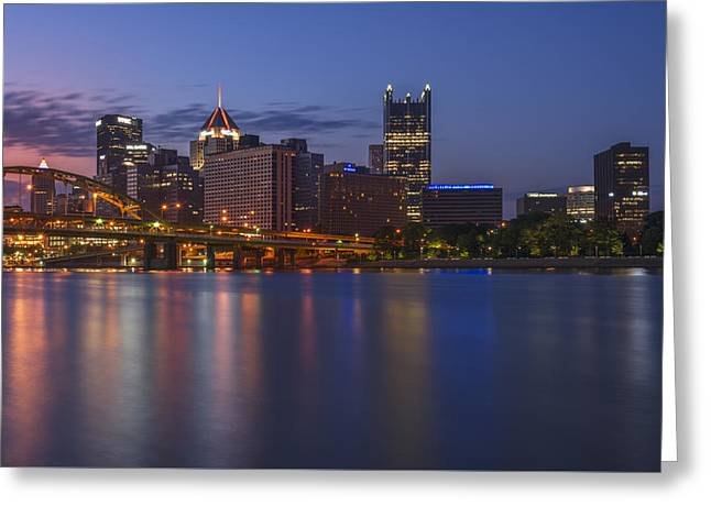 Good Morning Pittsburgh Greeting Card by Rick Berk
