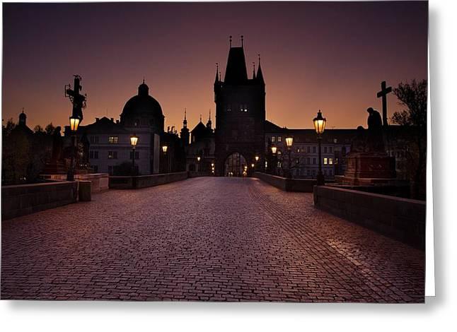 Czechia Greeting Cards - Good Morning Prague  Greeting Card by Jaroslaw Blaminsky