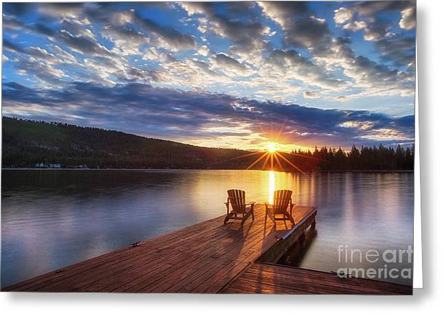 Sierra Gold Greeting Cards - Good Morning Sun Greeting Card by Anthony Bonafede