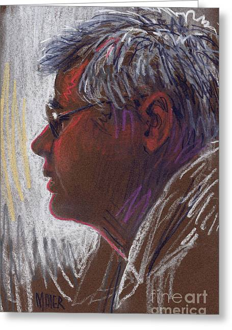 Profile Pastels Greeting Cards - Good Neighbor Sam Greeting Card by Donald Maier