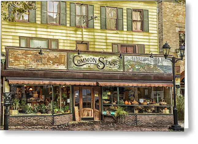 Grocery Store Greeting Cards - Good Old common Sense Greeting Card by Janet Ballard