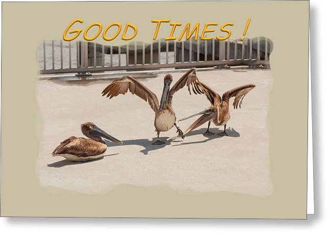 Wildlife Celebration Greeting Cards - Good Times Greeting Card by John Bailey