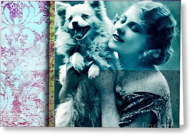Puppy Digital Greeting Cards - Good Times Greeting Card by Ramneek Narang