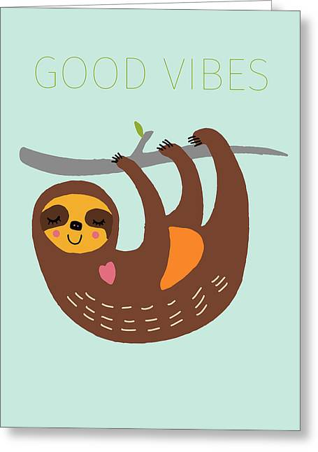 Good Vibes Greeting Card by Nicole Wilson