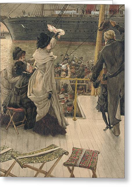 Goodbye On The Mersey Greeting Card by James Jacques Joseph Tissot