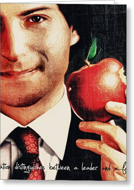 Job Greeting Cards - Goodbye Steve Jobs Greeting Card by Radu Aldea