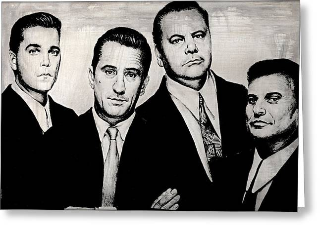 Tough Guys Greeting Cards - Goodfellas Greeting Card by Andrew Read