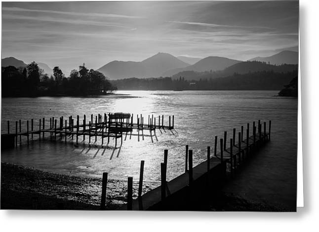 Tranquility Greeting Cards - Goodnight Derwentwater. Greeting Card by Daniel Kay
