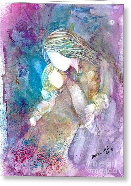 Mothers And Daughters Greeting Cards - Goodnight Kiss Greeting Card by Deborah Nell