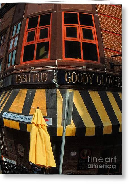 Boston Ma Greeting Cards - Goody Glovers Greeting Card by Mim White