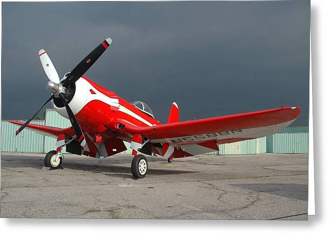 Goodyear F2g-1 Corsair N5588n Greeting Card by Brian Lockett