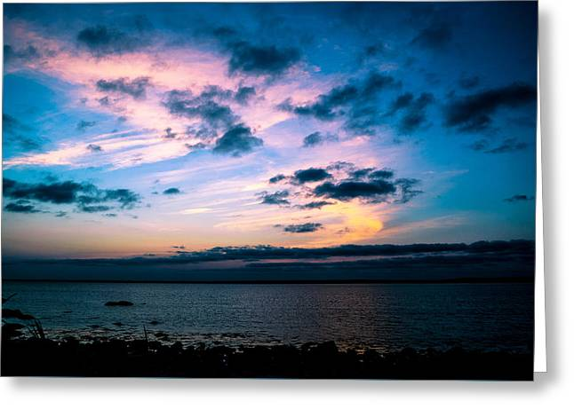 New England Ocean Greeting Cards - Gooseberry Island At Twilight Greeting Card by Troy DeTerra