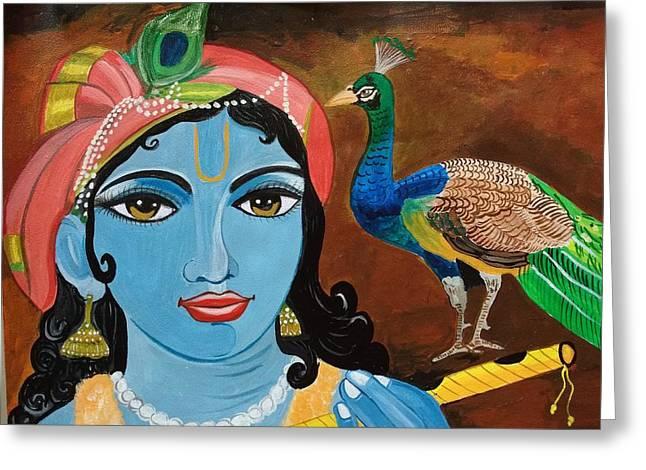 Gopala Greeting Card by Priyanka Singh