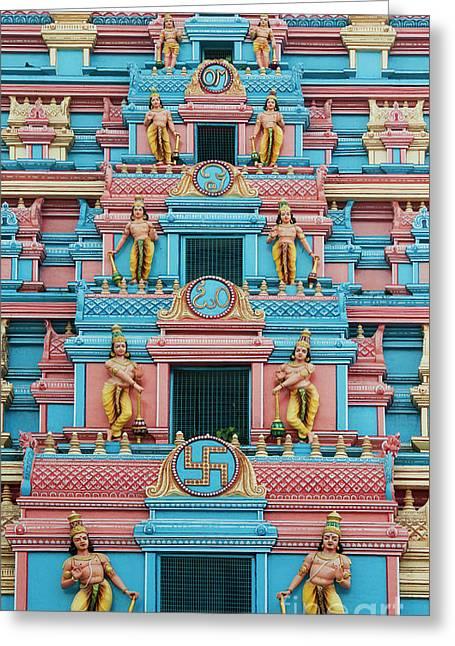 Gopuram Greeting Card by Tim Gainey