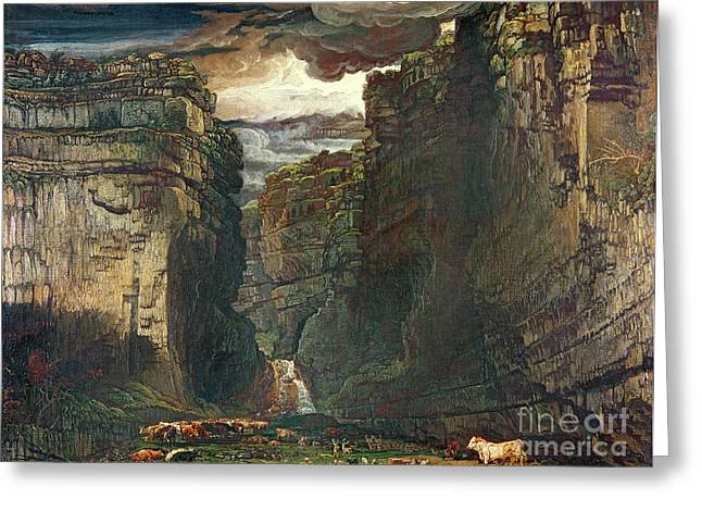 Scar Greeting Cards - Gordale Scar Greeting Card by James Ward