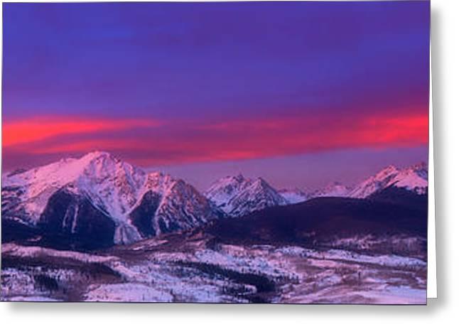 Colorado Mountains Greeting Cards - Gore Range Sunrise Greeting Card by Darren  White