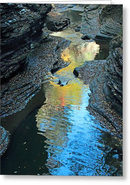 Gorge Abstract Greeting Card by Jessica Jenney