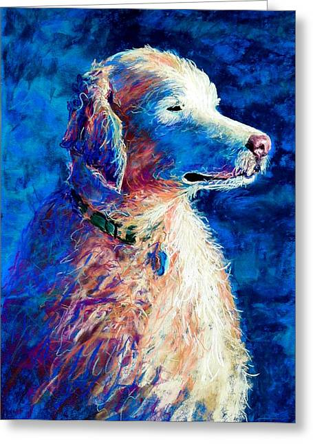 Puppies Pastels Greeting Cards - Gorge Dog Greeting Card by Lynee Sapere