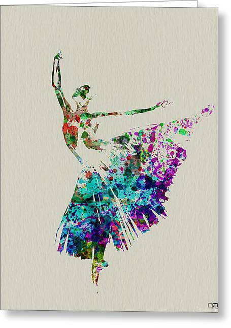 Dating Paintings Greeting Cards - Gorgeous Ballerina Greeting Card by Naxart Studio