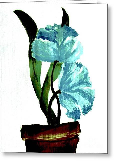 Light And Dark Digital Greeting Cards - Gorgeous Flowers Greeting Card by Marsha Heiken