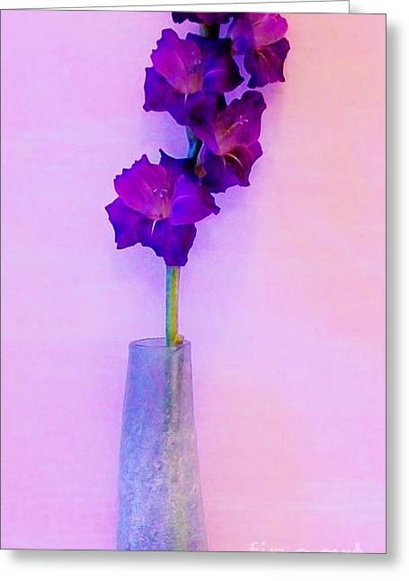 Gladiolas Greeting Cards - Gorgeous Gladiola Greeting Card by Marsha Heiken