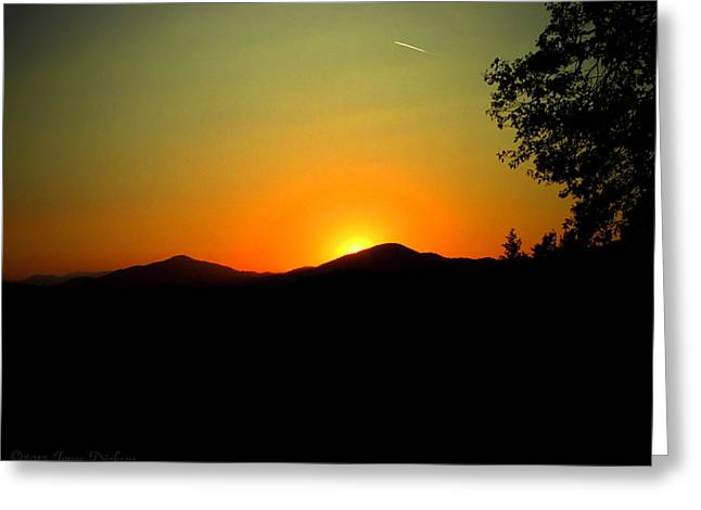 Artist Photographs Greeting Cards - Gorgeous OakRun Sunset Greeting Card by Joyce Dickens