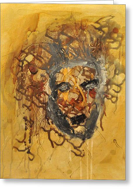 Medusa Paintings Greeting Cards - Gorgoneion Greeting Card by Morgan