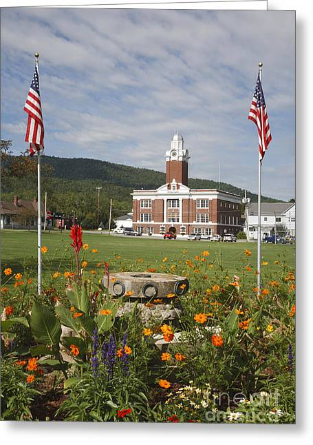 New England Village Greeting Cards - Gorham New Hampshire USA - Town Park Greeting Card by Erin Paul Donovan