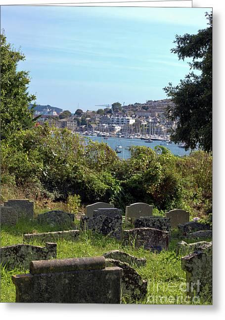 Gorrangorras Cemetery Penryn Greeting Card by Terri Waters