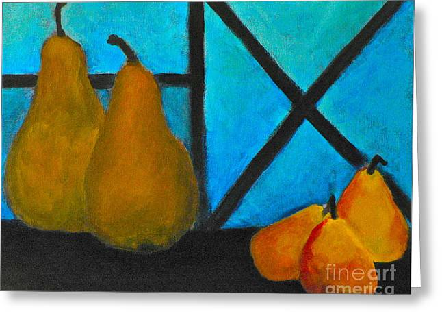 Stein Paintings Greeting Cards - Gossip Greeting Card by Carla Stein