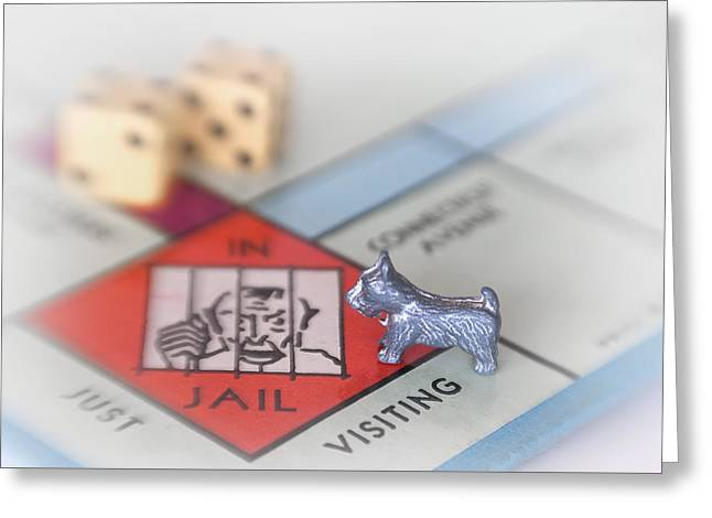 Board Game Greeting Cards - Got Bail Greeting Card by David and Carol Kelly