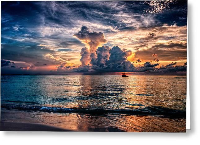 Sailboat Art Greeting Cards - Got Sunset Greeting Card by Riccardo Mantero