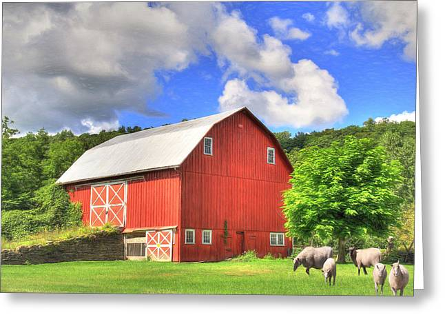 Barn Digital Greeting Cards - Got Wool Greeting Card by Sharon Batdorf