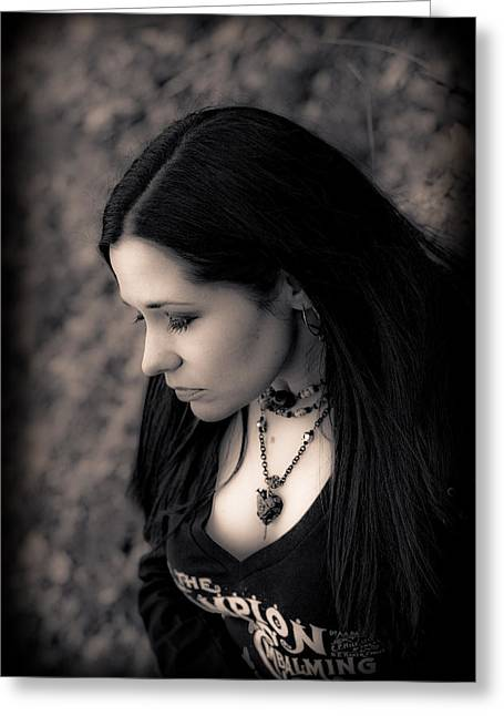 Characterization Greeting Cards - Goth at Heart - 1of 4 Greeting Card by Scott  Wyatt