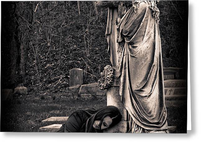 Goth at Heart - 3 of 4 Greeting Card by Scott  Wyatt