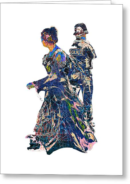 Goth Style Behind The Rozzer Greeting Card by John Groves
