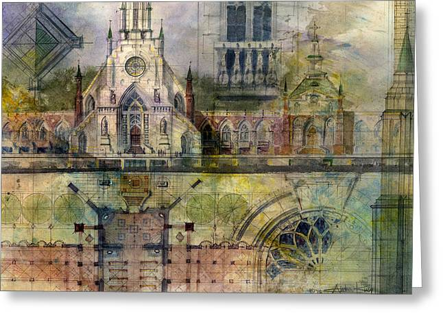 Church Greeting Cards - Gothic Greeting Card by Andrew King