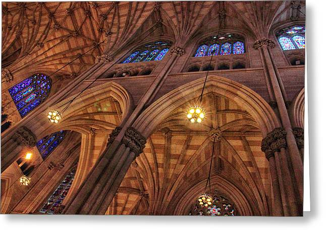 Gothic Ceiling Greeting Card by Jessica Jenney