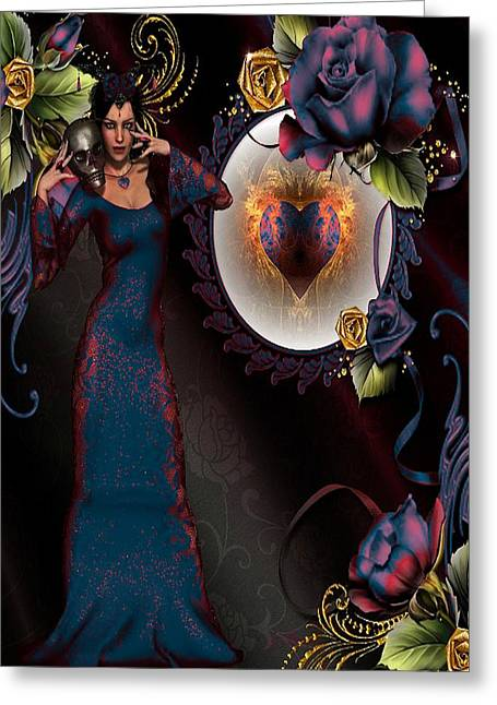 Bedroom Art Greeting Cards - Gothic Lady Greeting Card by G Berry